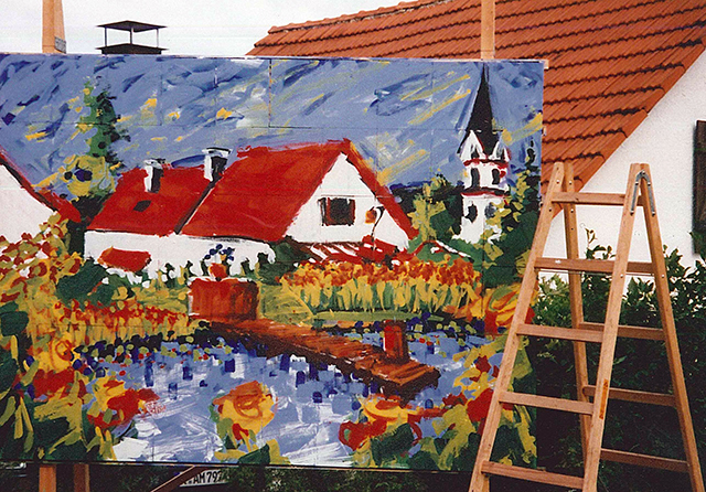 Pixel Painting im Garten